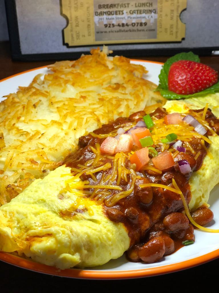 Chipotle Chili Bean omelette